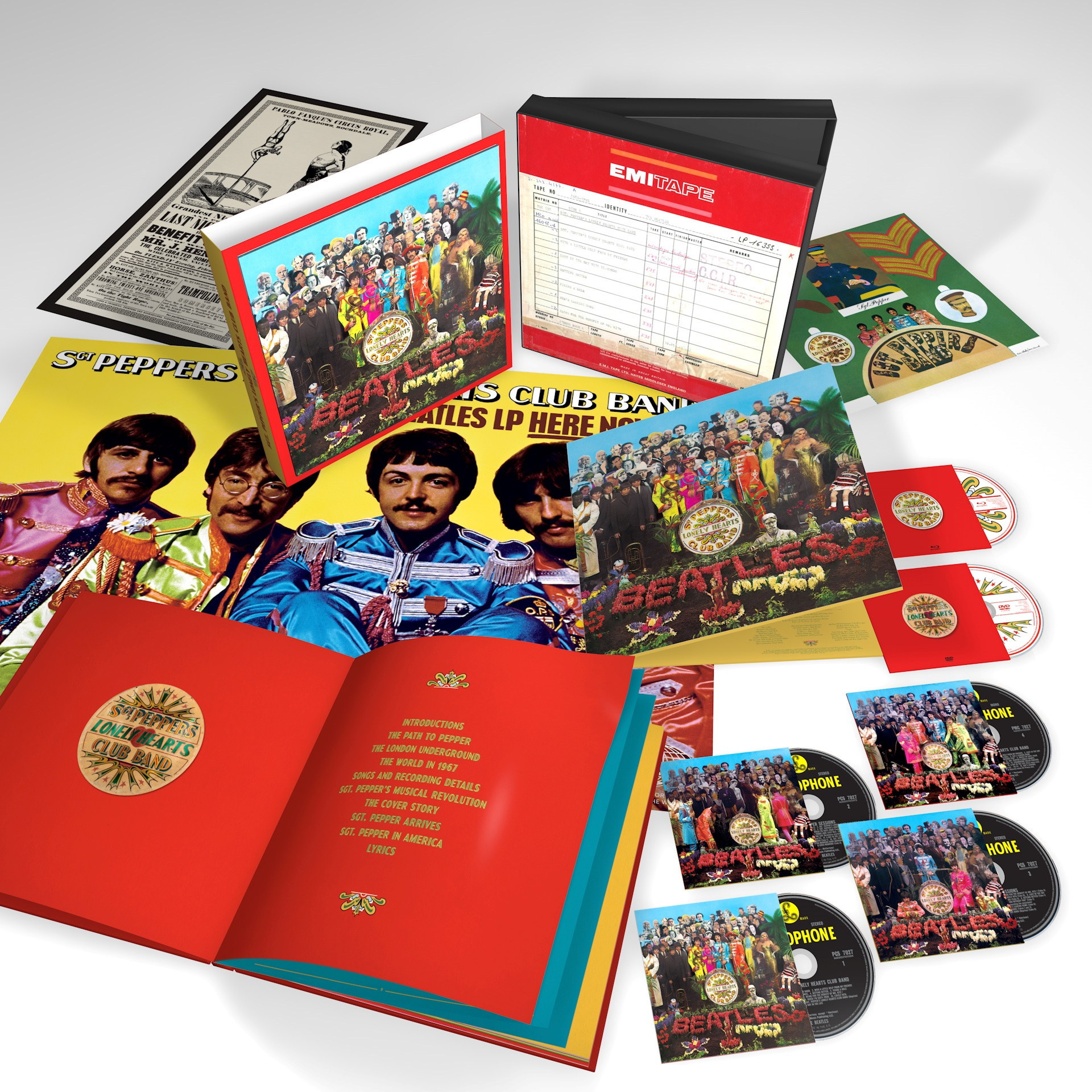 The Beatles Sgt Pepper 6 Disc 3D Product Shot
